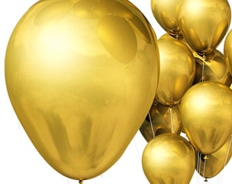 Extra Large 17 Inch Helium Quality Latex Balloons In Popular Metallic Gold!