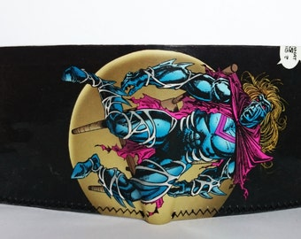kaine enemy  - recycled comic book wallet - slim wallet - hanmade wallet - card holder - thin wallet - vinyl wallet - men's wallet
