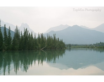 Mirror Lake, 35mm film photography print, Alberta, Canada - All proceeds are donated to YWCA Calgary