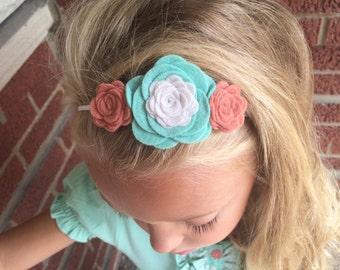 "Felt Flower Headband M2M Matilda Jane ""Bailey Lap Dress"" - Forever Friends"