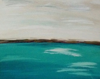 Original Painting Landscape SeaScape Abstract Acrylic