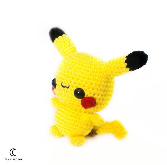 Chibi Pikachu Amigurumi : Items similar to Pikachu Amigurumi - Chibi Pokemon plush ...