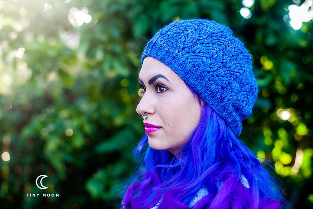 Blue Knitted Beanie