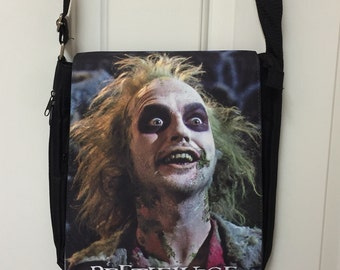 Beetlejuice Inspired Messenger Bag / Purse