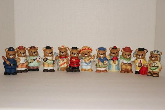 Homco International Teddy Bear Figurines 1994 Bears Of The