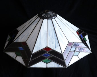 Large vintage Art Deco Leadlight lampshade