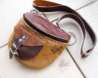 WAIST leather BAG antiqued brown 2