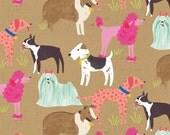 Dog Fabric - Pedigree in Kraft by Blend Fabrics - 1/2 Yard