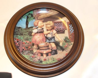 "M.J. Hummel Plate  ""Squeaky Clean""  Little Companions Series The Danbury Mint"