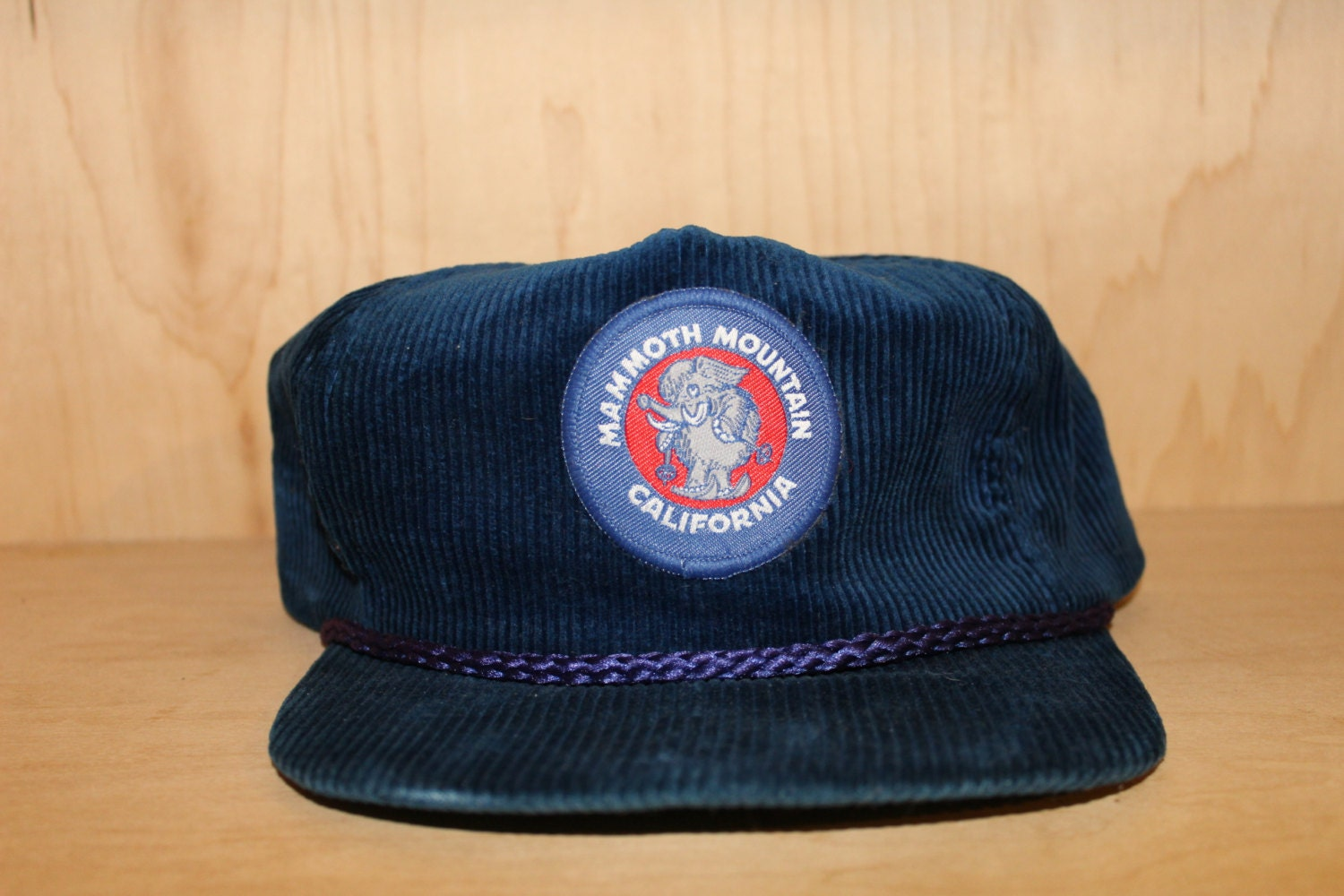 Vintage 90 s Mammoth Mountain California Corduroy Strapback Hat by Imperial  Caps af1fc622241