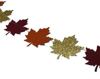 Fall Leaf Garland | Autumn Garland | Fall Wedding Decor | Autumn Decor