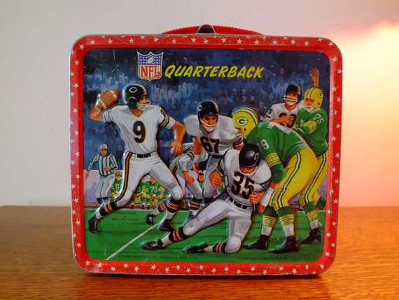 Wonderful Vintage 1964 NFL Quarterback Lunch Box by Aladdin