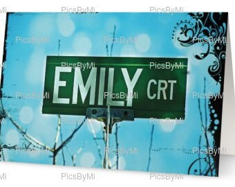 Emily, personalized name card, name card, gifts under 20, personalized christmas card,bridal party gifts,photography,girl name, christmas