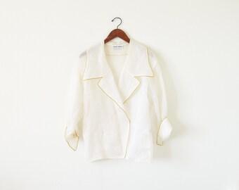 80s ALBERT NIPON jacket / sheer jacket / vintage evening jacket