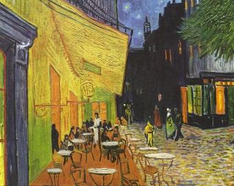 Vincent Van Gogh: Cafe Terrace at Night. Fine Art Print/Poster.