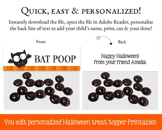 Halloween Goodie Bag Toppers