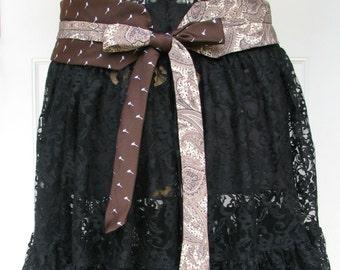 Necktie Belt - Chic Belt - Refashioned Necktie Belt