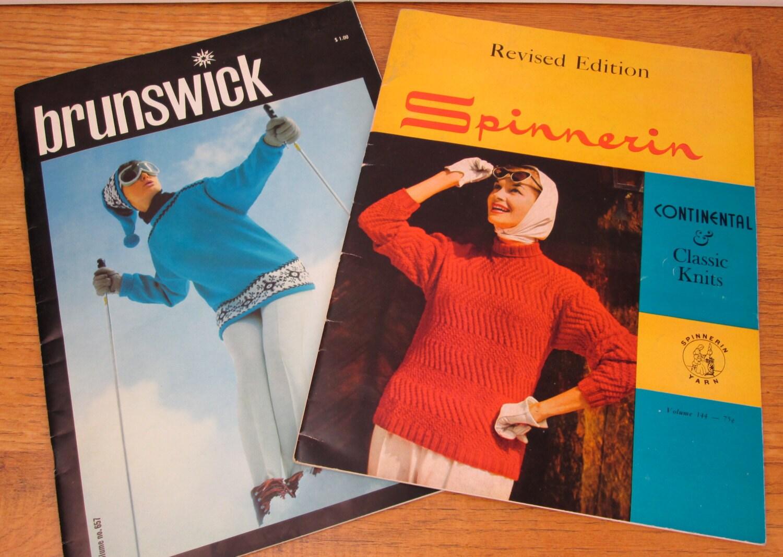 Vintage Knitting Books : Vintage mid century knitting pattern books sweaters women
