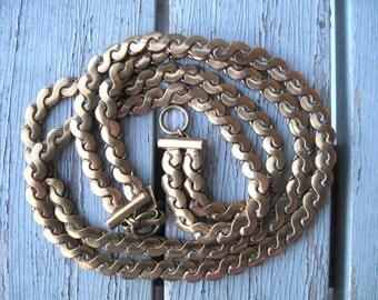 Monet Jewelers Brass Necklace --- 250
