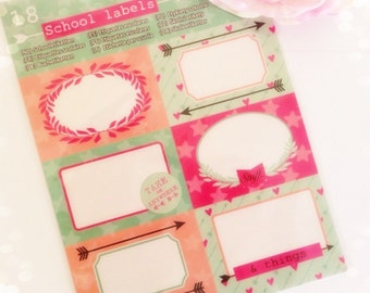 Sticker sheets 18 label stickers