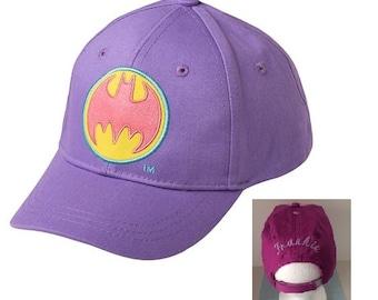 Toddler Girls' Batgirl BATMAN Baseball Hat - Purple  Personalized