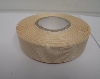 Grosgrain Ribbon 3mm 6mm 10mm 16mm 22mm 38mm Rolls, Cream, 2 or 20 metres, Ribbed Double sided,