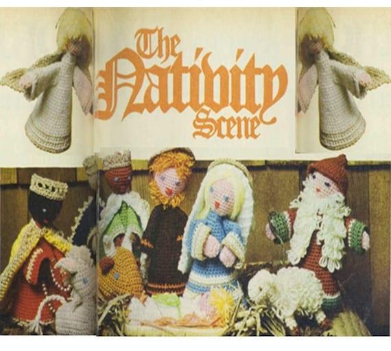 Crochet Patterns Nativity Scene : Crochet Christmas Pattern-Crochet Nativity Scene Pattern Vintage 70s ...