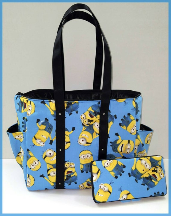 despicable me minions diaper bag girl or boy tote matching. Black Bedroom Furniture Sets. Home Design Ideas