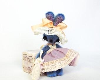 Miniature bunny - Teddy bunny - OOAK Handmade Bunny - 3.5 inch (11 cm) bunny girl Lucille