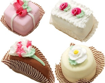 Fake Petit Fours Mini Cakes 4 Piece