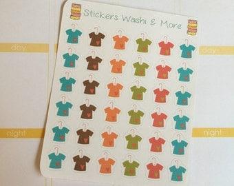 36 T shirt on a hanger stickers for Erin Condren Life Planner Filofax Gillio #SWM00093