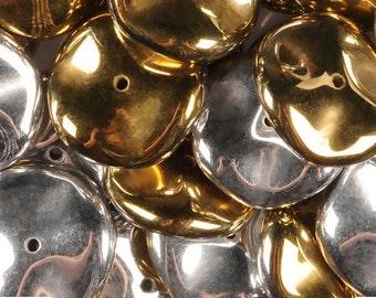 Preciosa Ripple Bead California Silver 12 mm (10)