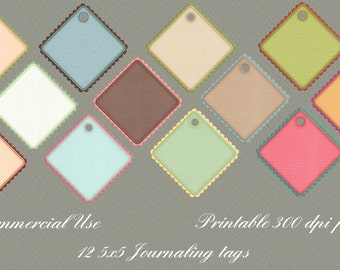 12 5x5 Journaling Psd's Digital Scrapbooking Printable Commercial Use