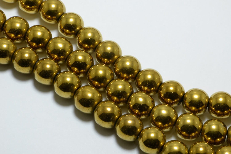Hematite Round ... Gold Hematite Beads