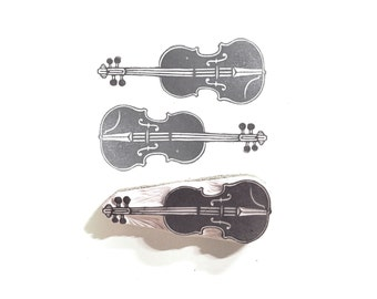 Violin Rubber Stamp | 002013