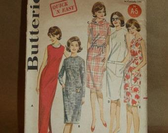Vintage Shift dress pattern Butterick 2772