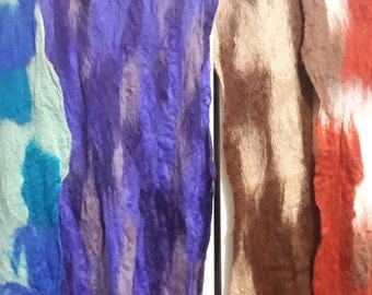Hand felted scarves