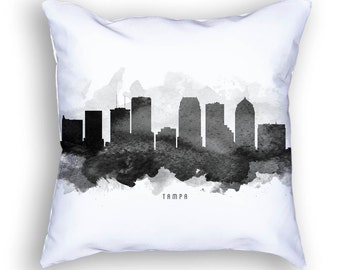 Tampa Pillow, 18x18, Tampa Skyline, Tampa Cushion, Tampa Cityscape, Throw Pillow, Home Decor, Gift Idea, Pillow Case 11