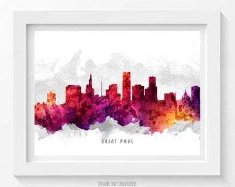 Saint Paul Minnesota Skyline Poster, Saint Paul Cityscape, Saint Paul Print, Saint Paul Art, Saint Paul Decor, Home Decor, Gift Idea 14