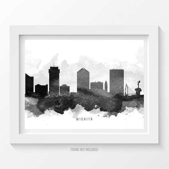 Home Decor Wichita Ks: Wichita Kansas Skyline Poster Wichita Cityscape Wichita Art