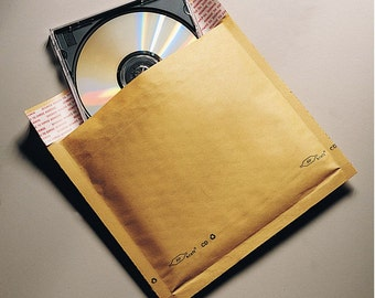 "300 KRAFT BUBBLE Mailers - Size CD (7.25""x7"")"
