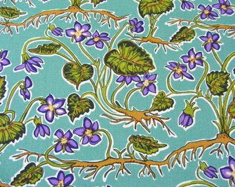 "Bargin Bin-Bolt End-The Bee's Knees Violets Fabric~Free Spirit~17""x44""~Westminster Fibers-Floral-Plants"