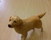 1970's golden retriever dog figurine
