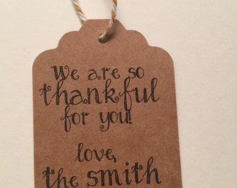 Set of 6 Handmade Thanksgiving Gift Tags Favor Tags-Ships in 3-5 days!