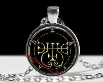 16 ZEPAR demon seal pendant, Goetia sigil necklace, Lemegeton jewelry, Lesser Key, occult pentacle, summoning demons ritual amulet 104.16