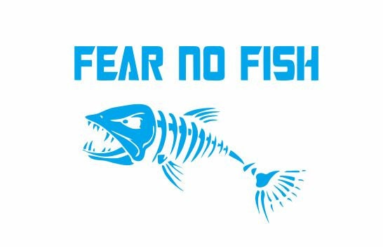 Fear no fish decal for home and car sea life decals sea life for Fear no fish