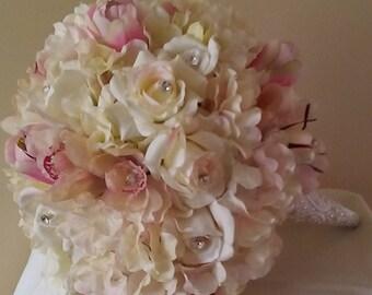 Hydrangeas Rose Bridal Bouquet