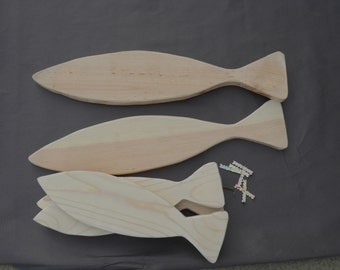 Do It Yourself 5 Wooden Fish Family