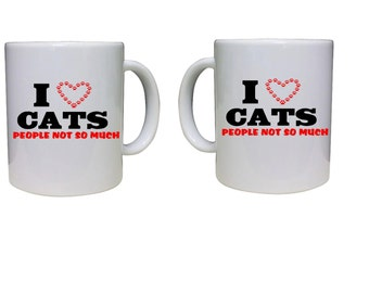 I love cats people not so much 11 oz coffee mug free shipping