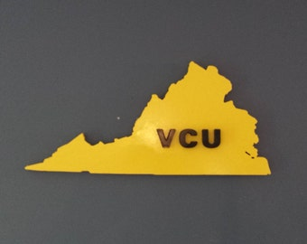 3D Virginia Commonwealth Univeristy Sign / Plaque